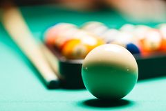 Billiard balls in a pool table. Stock Photography