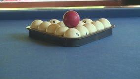 Billiard balls , pool table stock video footage