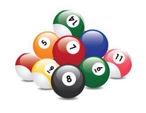 Billiard balls pyramid Stock Image