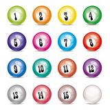 Vector billiard balls Stock Photo