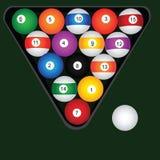 Billiard balls set Royalty Free Stock Images
