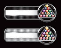Billiard balls in specialized banners Stock Image