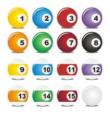 Billiard balls. Suitable for user interface Stock Images