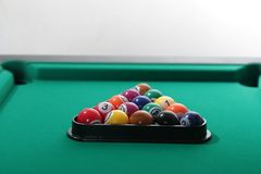 Billiard balls on table Stock Images