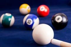 Billiard. Balls on a table Stock Photo