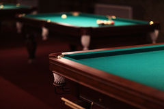 Billiard balls on table Royalty Free Stock Photography