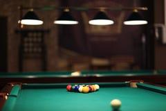 Billiard balls. On the table stock photos