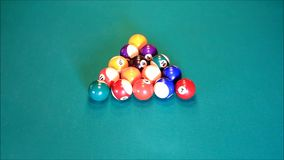 Billiard balls stock footage