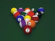 Billiard  balls on table Royalty Free Stock Image
