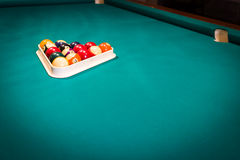 Billiard balls on table  Royalty Free Stock Photos