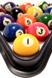 Billiard balls in triangle Royalty Free Stock Image