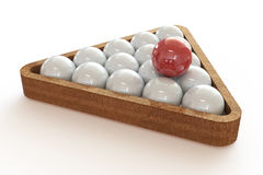 Billiard balls in the triangle. Royalty Free Stock Images