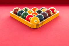 Billiard balls in triangle Royalty Free Stock Photography
