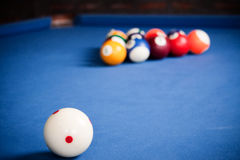 Billiard balls / A Vintage style photo from a billiard balls in Stock Image