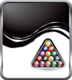 Billiard balls on wave background Stock Photography