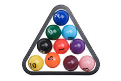 Billiard balls on white Royalty Free Stock Photo