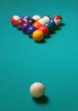 Billiard balls4. Billiard balls on green table Royalty Free Stock Photo