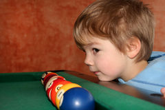 Billiard boy Royalty Free Stock Images