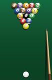 Billiard Break Shot Start Off Cue Sports Stock Image