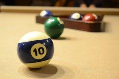 Billiard Challenge- Pool Table. Billiard Balls before setting the match royalty free stock photo