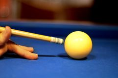 Billiard close up photo Royalty Free Stock Photo