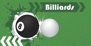Billiard club. Abstract vector illustration Stock Photos
