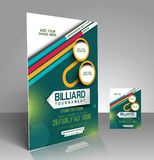 Billiard Competition Flyer Stock Photo