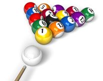 Billiard concept Royalty Free Stock Photos