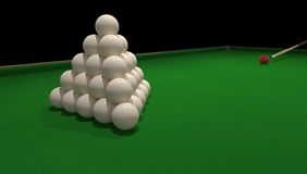 Billiard concept Royalty Free Stock Photo