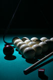 Billiard concept. Floodlite. Billiard concept Stock Photos
