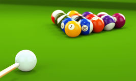 Free Billiard Cue And Pool Balls Stock Images - 94649184