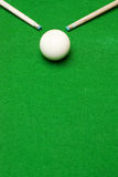 Billiard cues with white ball Stock Photos