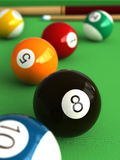 Billiard. 3d render of billiard balls and table Royalty Free Stock Image