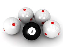 Billiard Eight Ball Stock Photos