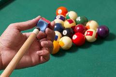 Billiard elements Stock Image