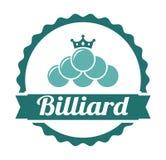 Billiard emblem Royalty Free Stock Photo