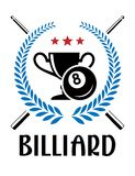 Billiard emblem with laurel wreath Stock Images