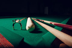 Billiard equipment Stock Images