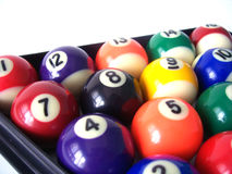 billiard för 5 bollar Fotografering för Bildbyråer