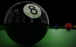 billiard för 8 boll Royaltyfria Bilder