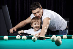 Billiard fun stock photo