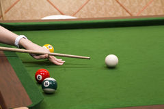 Billiard game Stock Photos