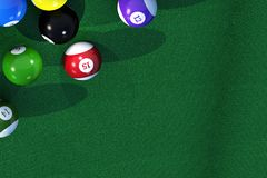Billiard Game Copy Space Royalty Free Stock Photo