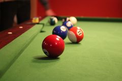 Billiard game Stock Photo