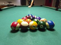 Billiard game picture stock photography