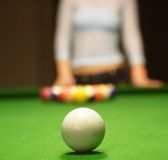 Billiard game. Pool. Stock Photo