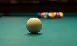Billiard game ready to break 5 Royalty Free Stock Photography