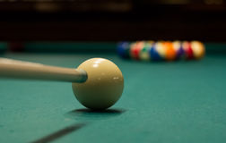 Billiard game ready to break 6 Royalty Free Stock Image