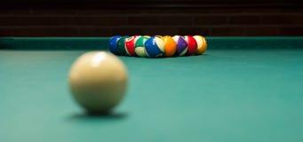 Billiard game ready to break 2 stock image