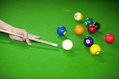 Billiard game situation Stock Photo